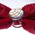 кольцо для платка с круглой эмблемой